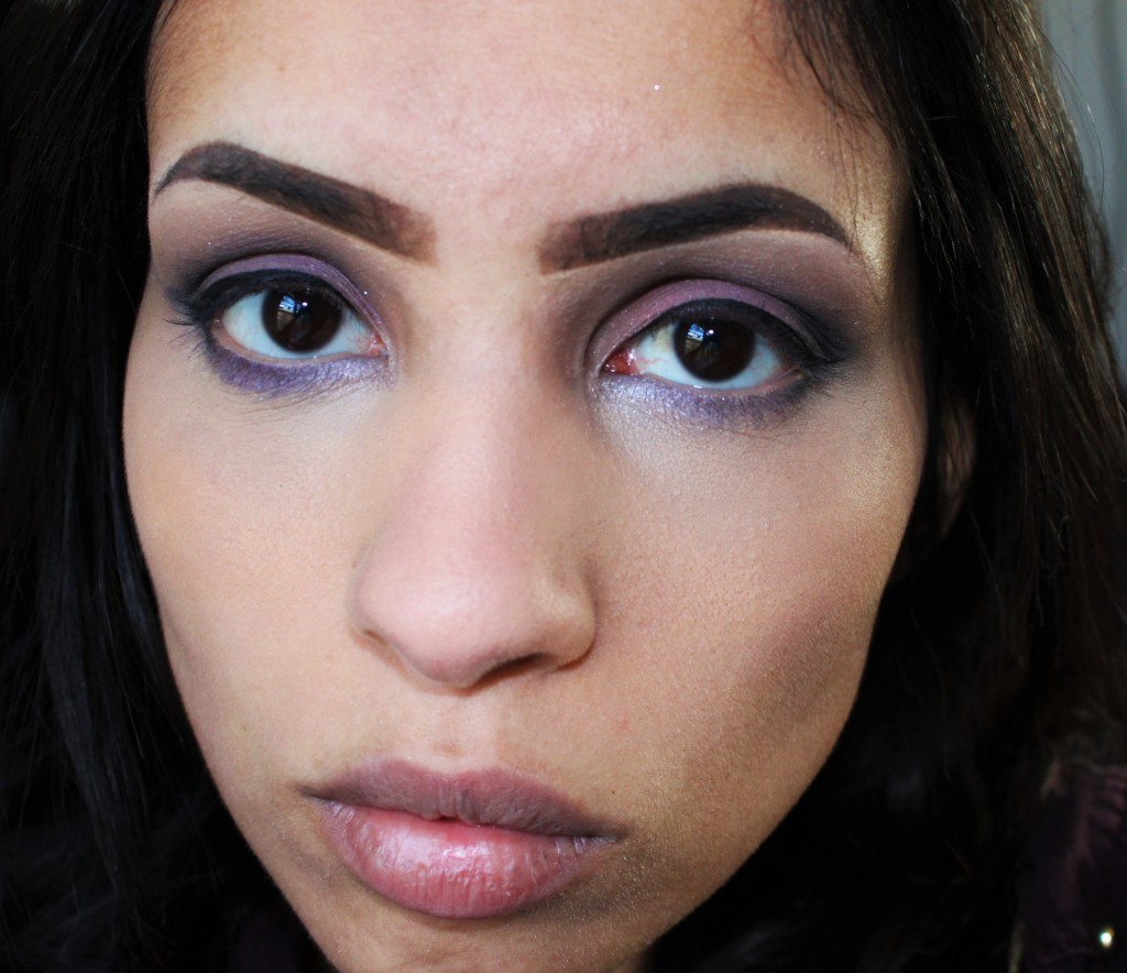 W7 In The Night Smokey Palette look