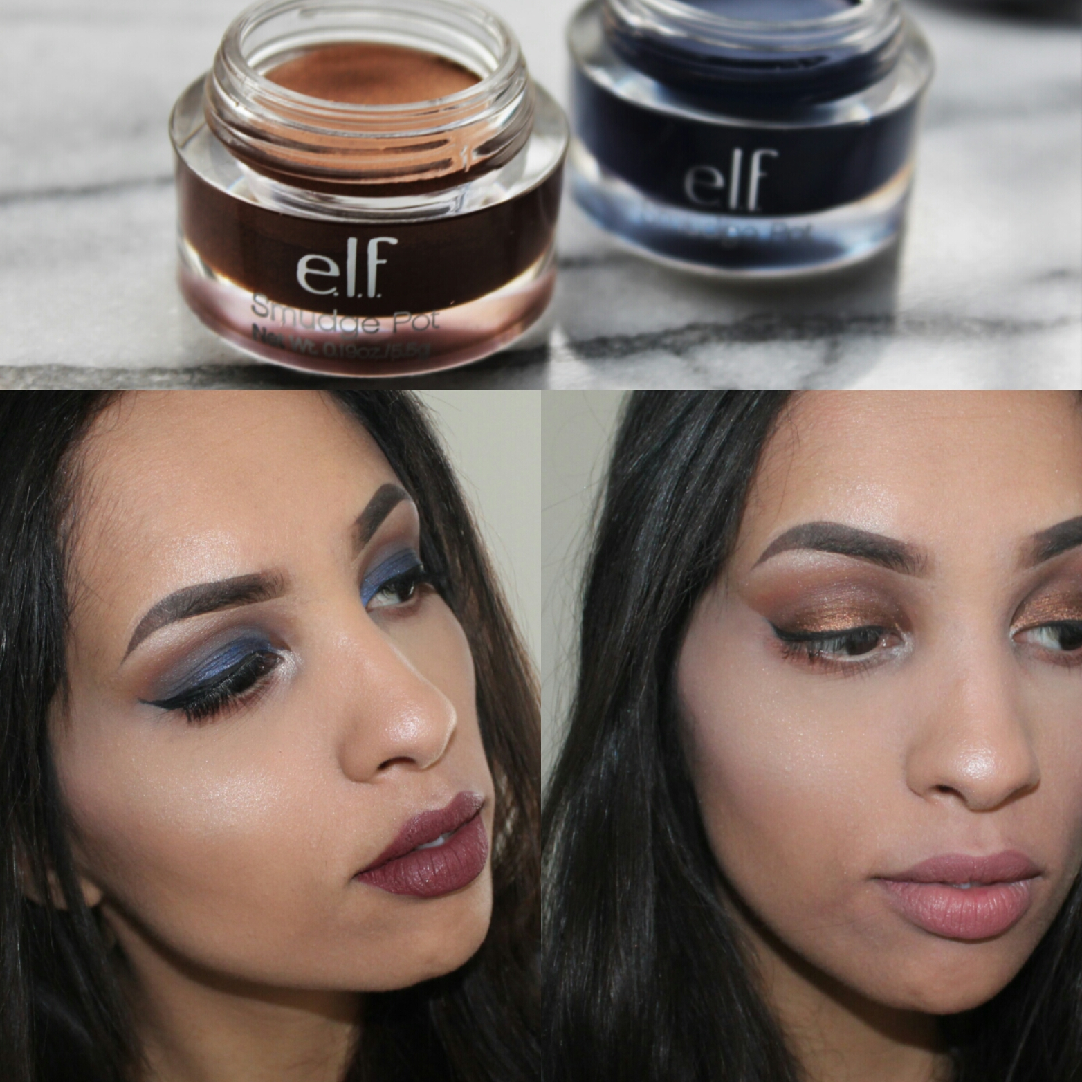 ELF review & looks | Glam vs Nude