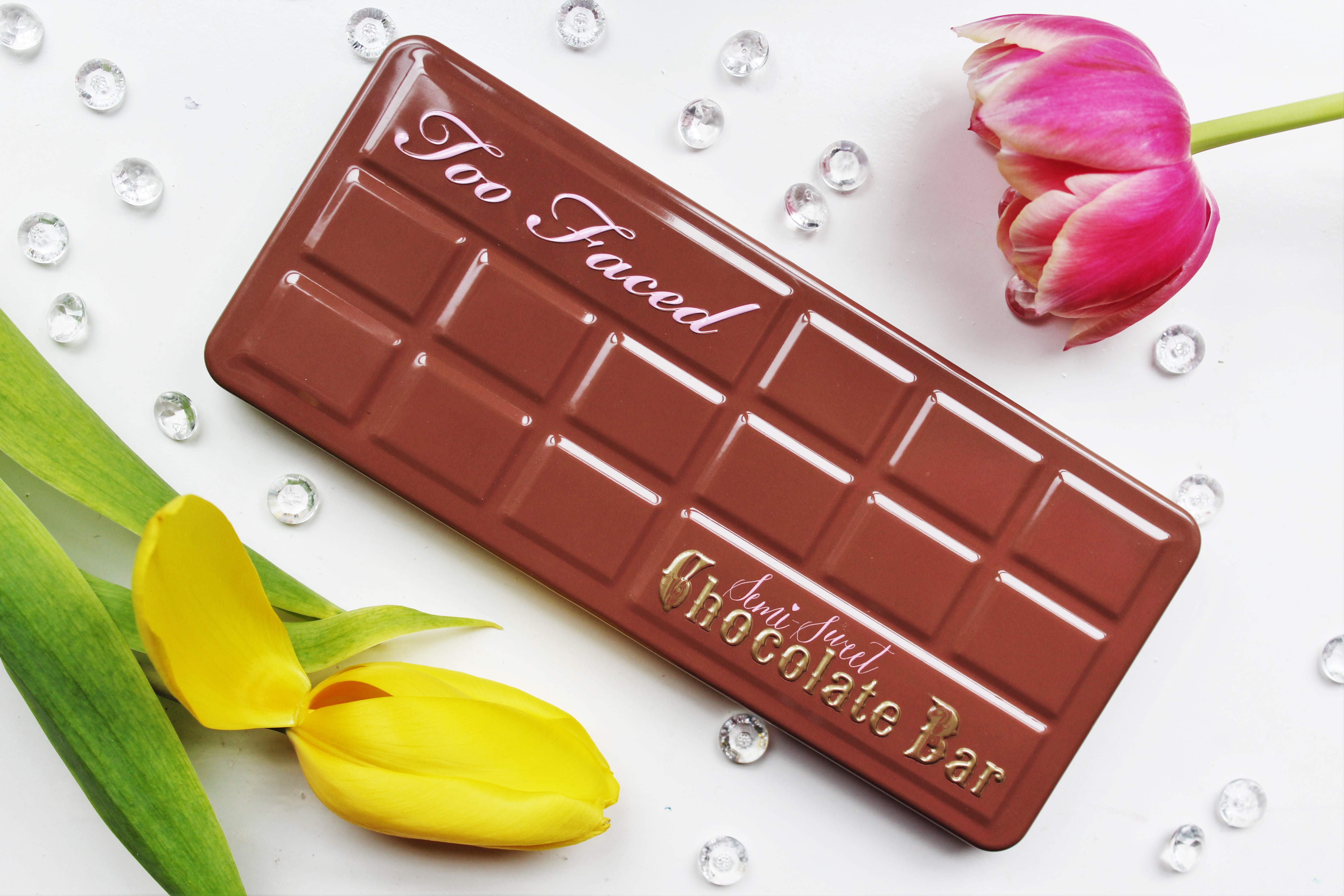 Too Faced Semi-Sweet Chocolate Bar | review & look