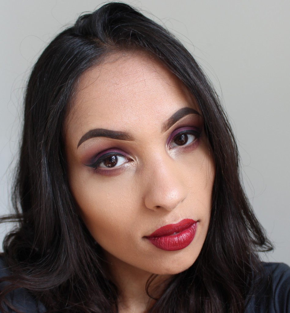 sleek vintage romance look makeup