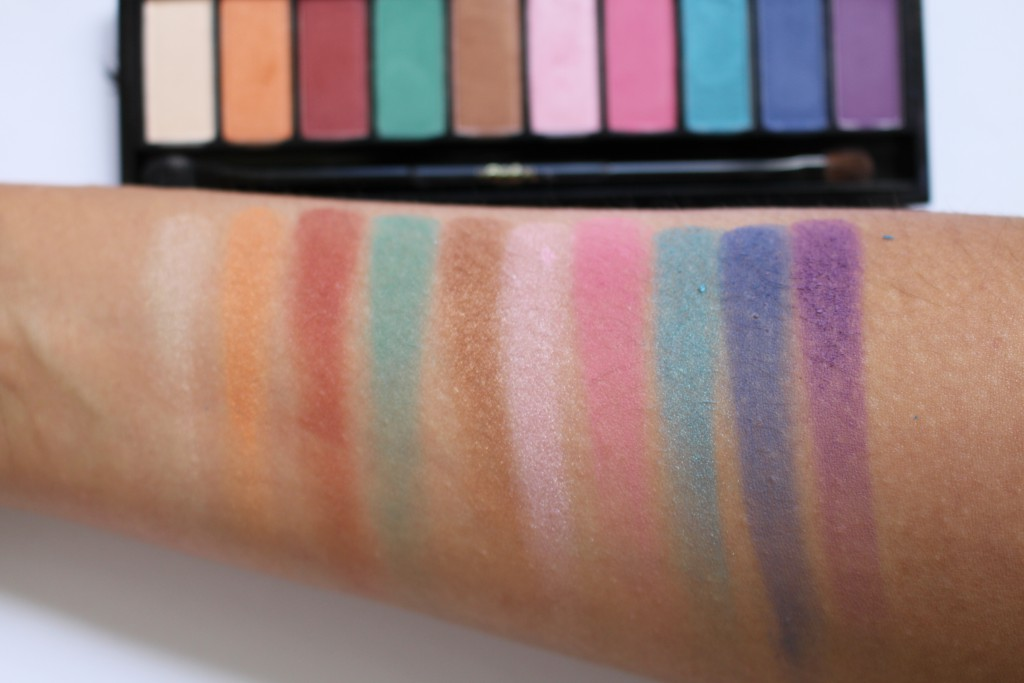 la palette glam yeux swatches