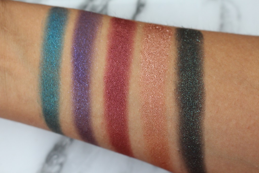 Colourpop swatches
