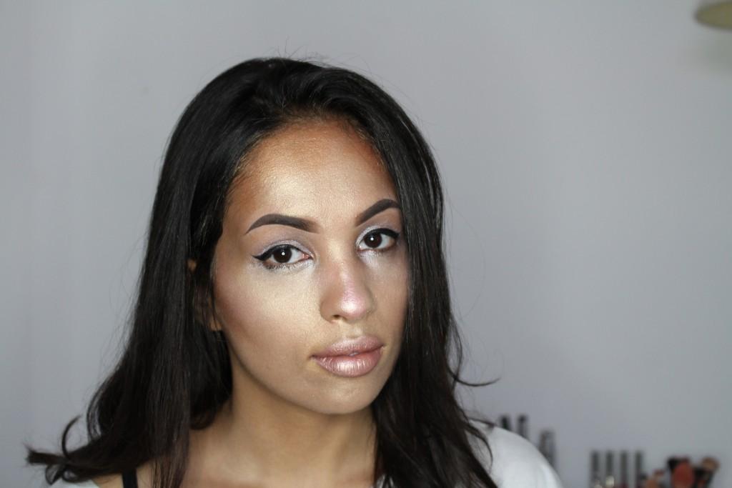 make-up full face highlighter challenge