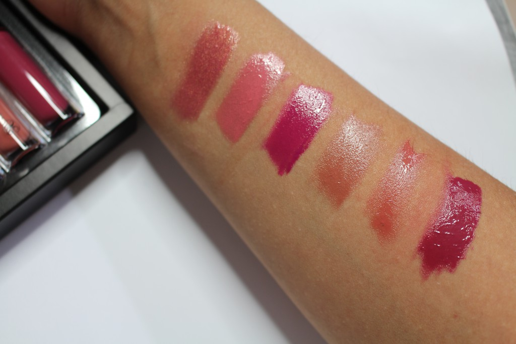 Anastasia Lip Gloss Set Summer swatches