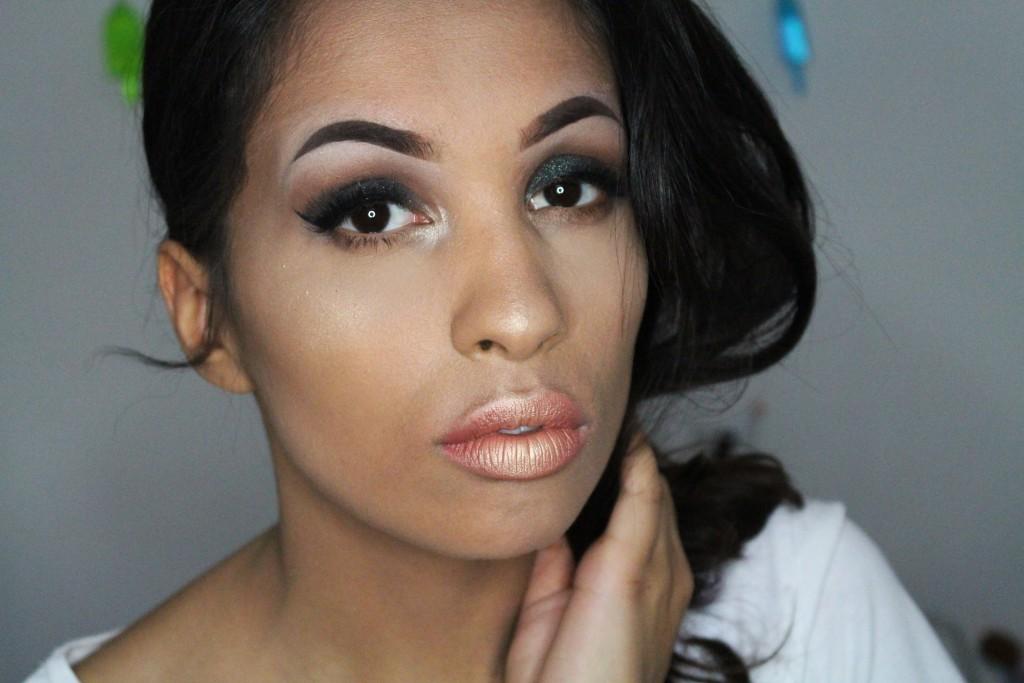 highlighter over lipstick