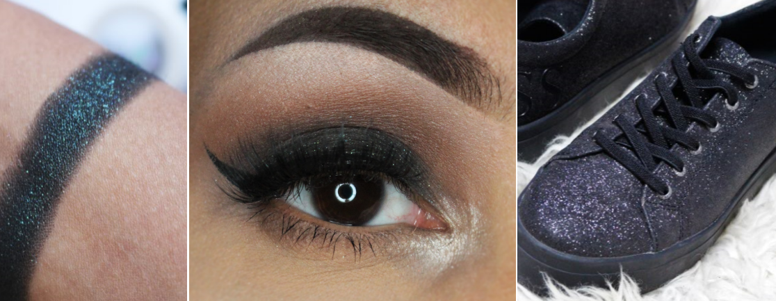 Make-up & stijl | Zwart met glitters