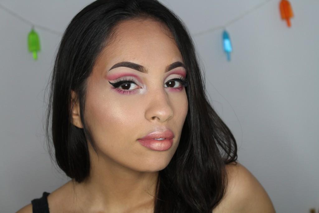 flamingo make-up glitter roze