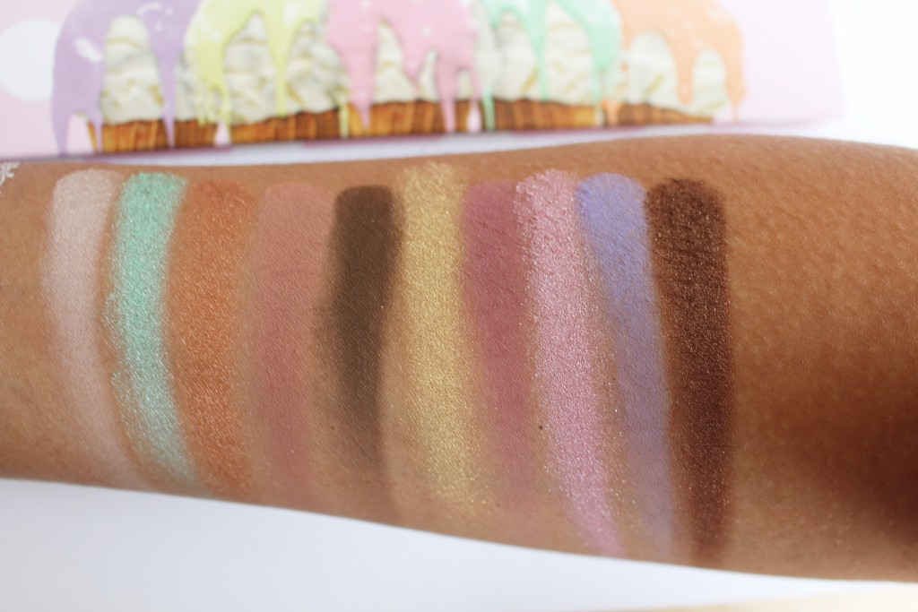 Dose of Colors Eyescream swatches