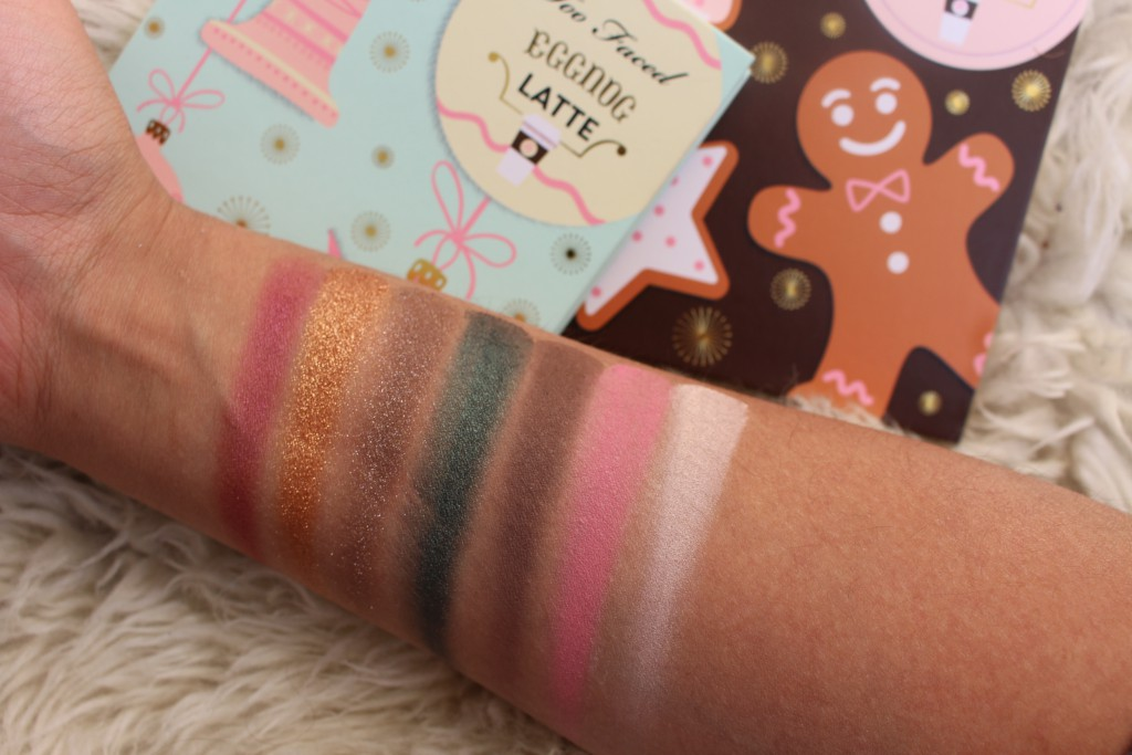 Too Faced Grand Hotel Café swatches