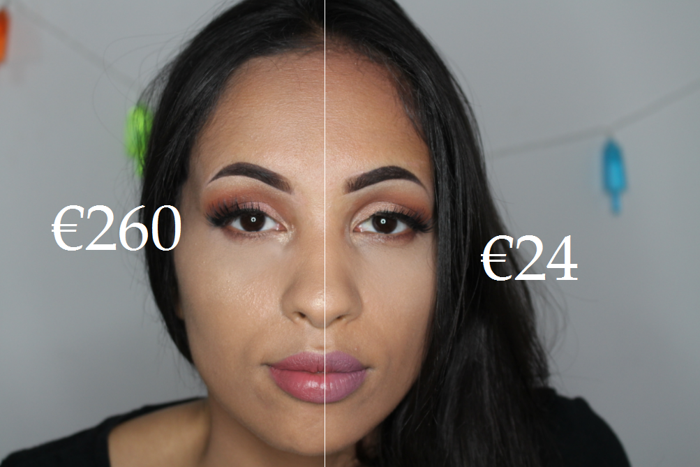 luxe make-up vs budget make-up look