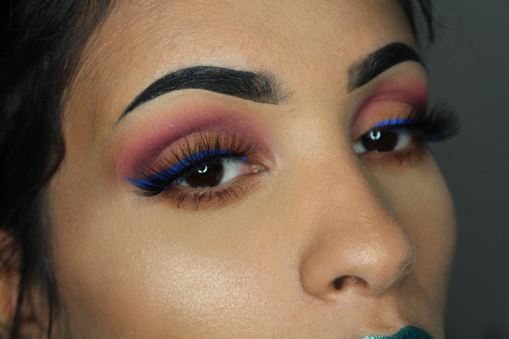 nyx vivid brights eyeliner review look