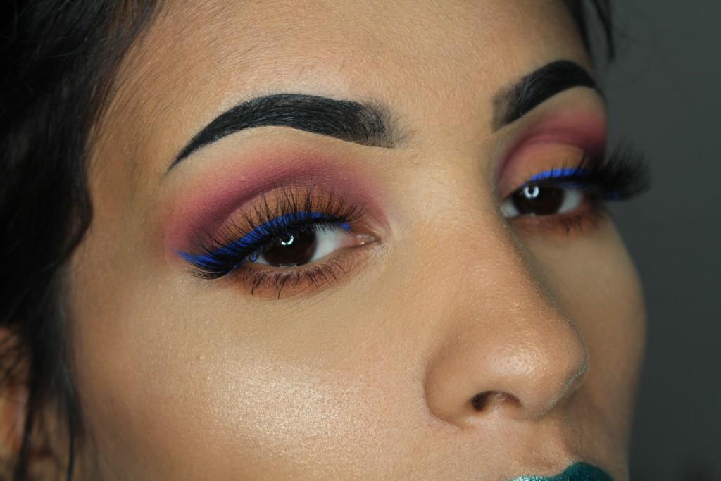nyx vivid brights eyeliner review look