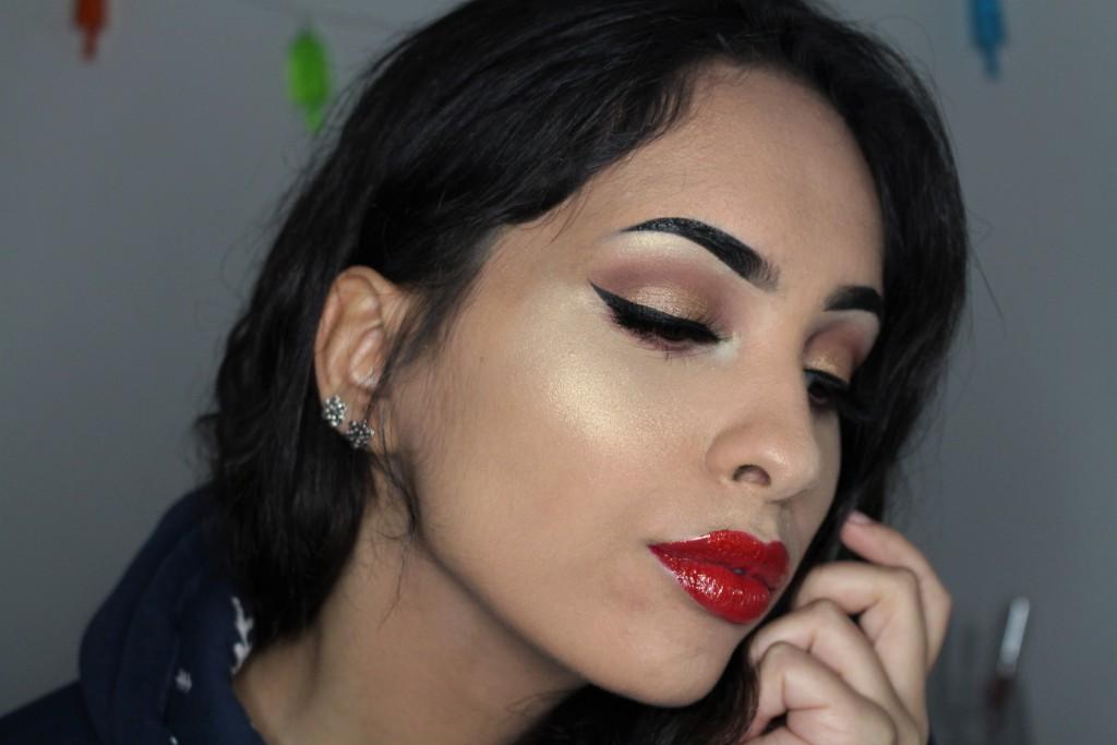 kerst 2016 makkelijke budget make-up look