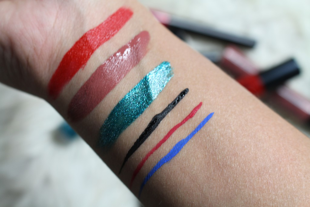 nyx cosmetics swatches