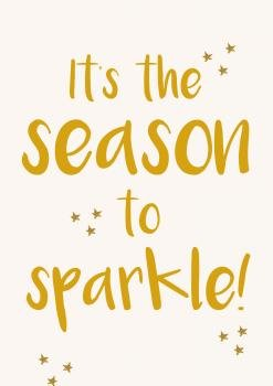 love-sam-kerst-its-the-season-to-sparkle-goud-voorkant