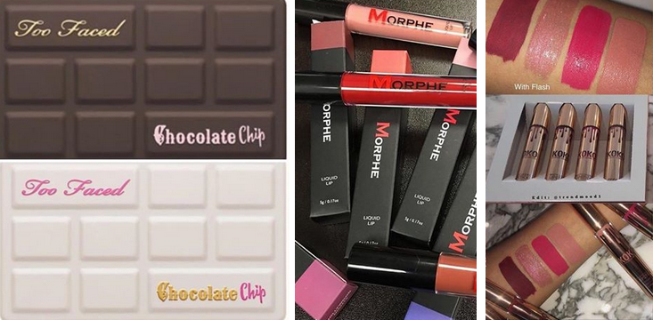 morphe liquid lips too faced chocolate chip