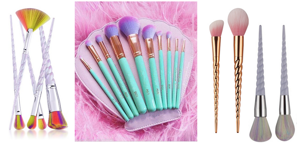 AliExpress Unicorn & Mermaid make-up kwasten