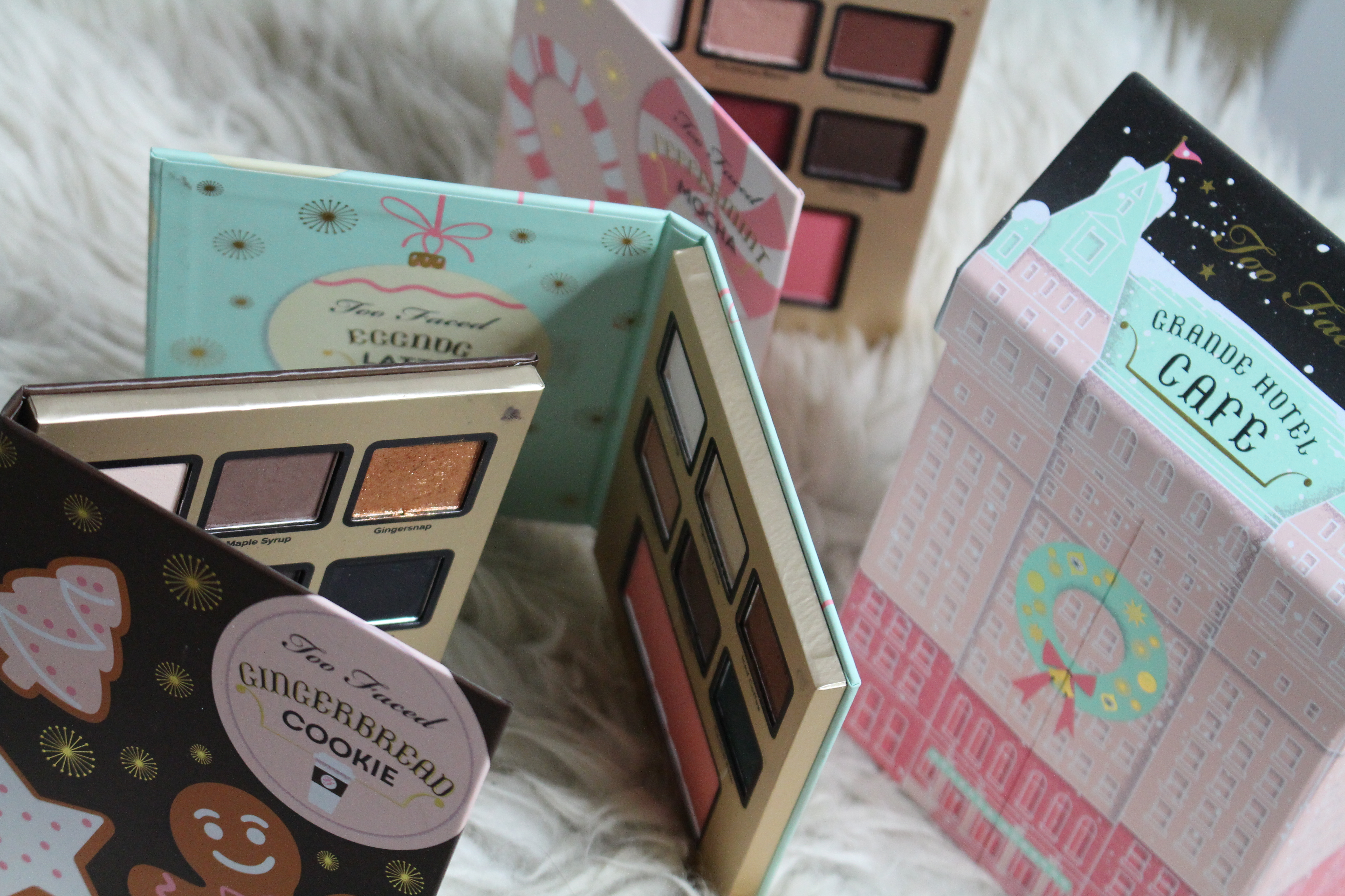 Advent swatches | Too Faced Grande Hotel Café!