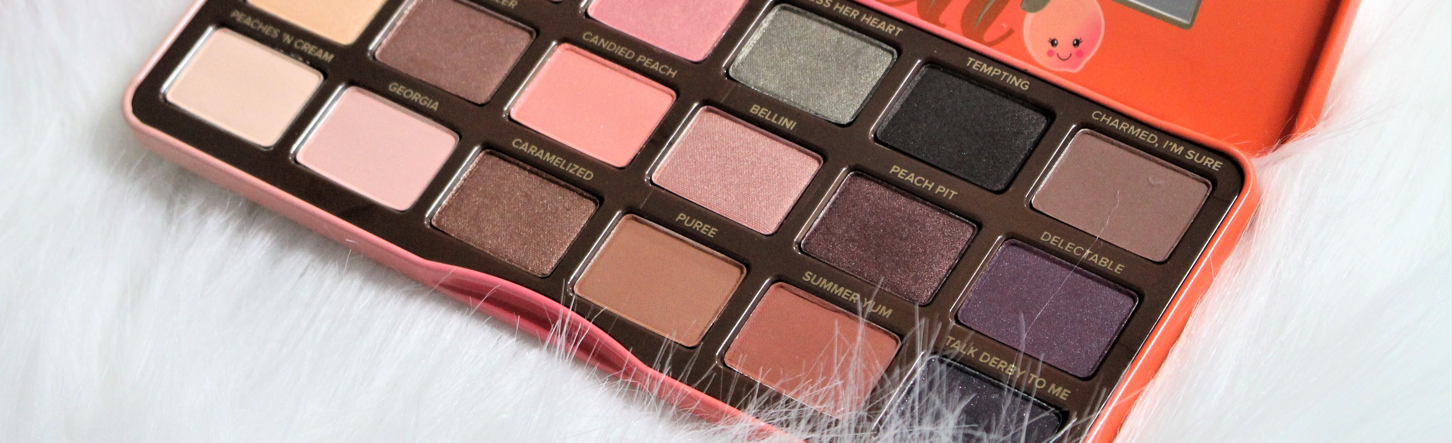 Too Faced Sweet Peach eyeshadow palette | Review & make-up look