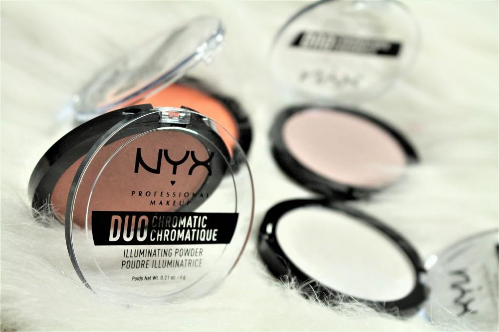 NYX cosmetics duo chromatic illuminating powder review