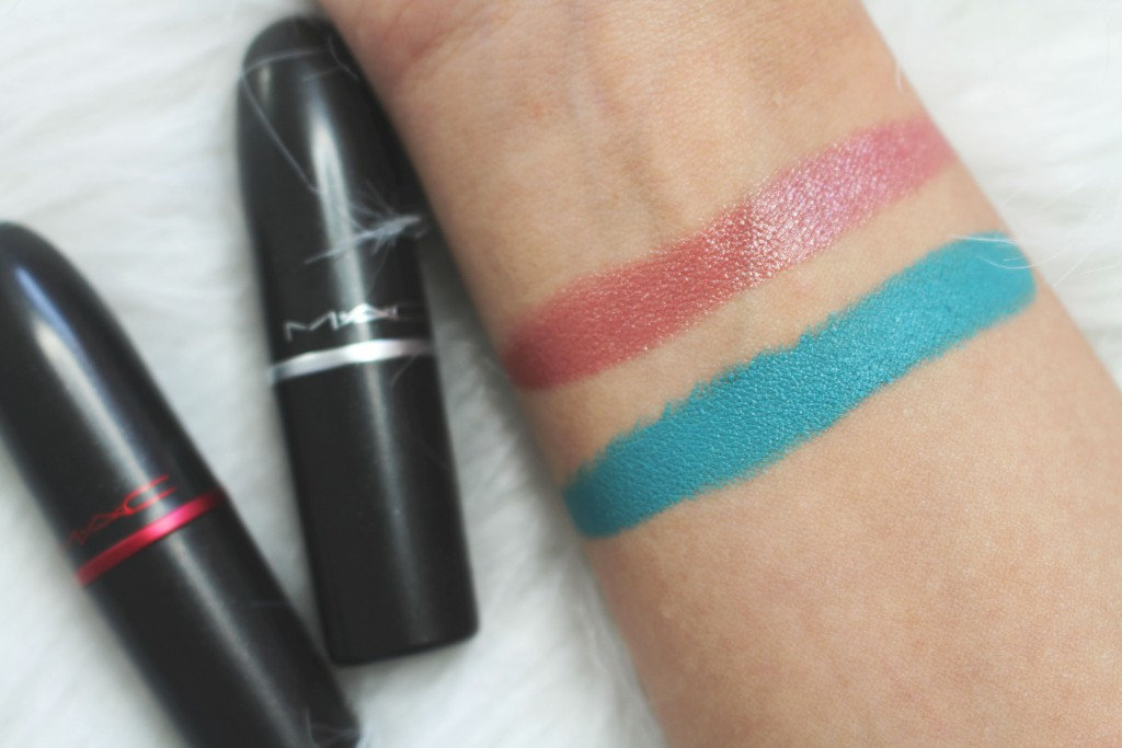 MAC lipstick viva glam V show and teal review
