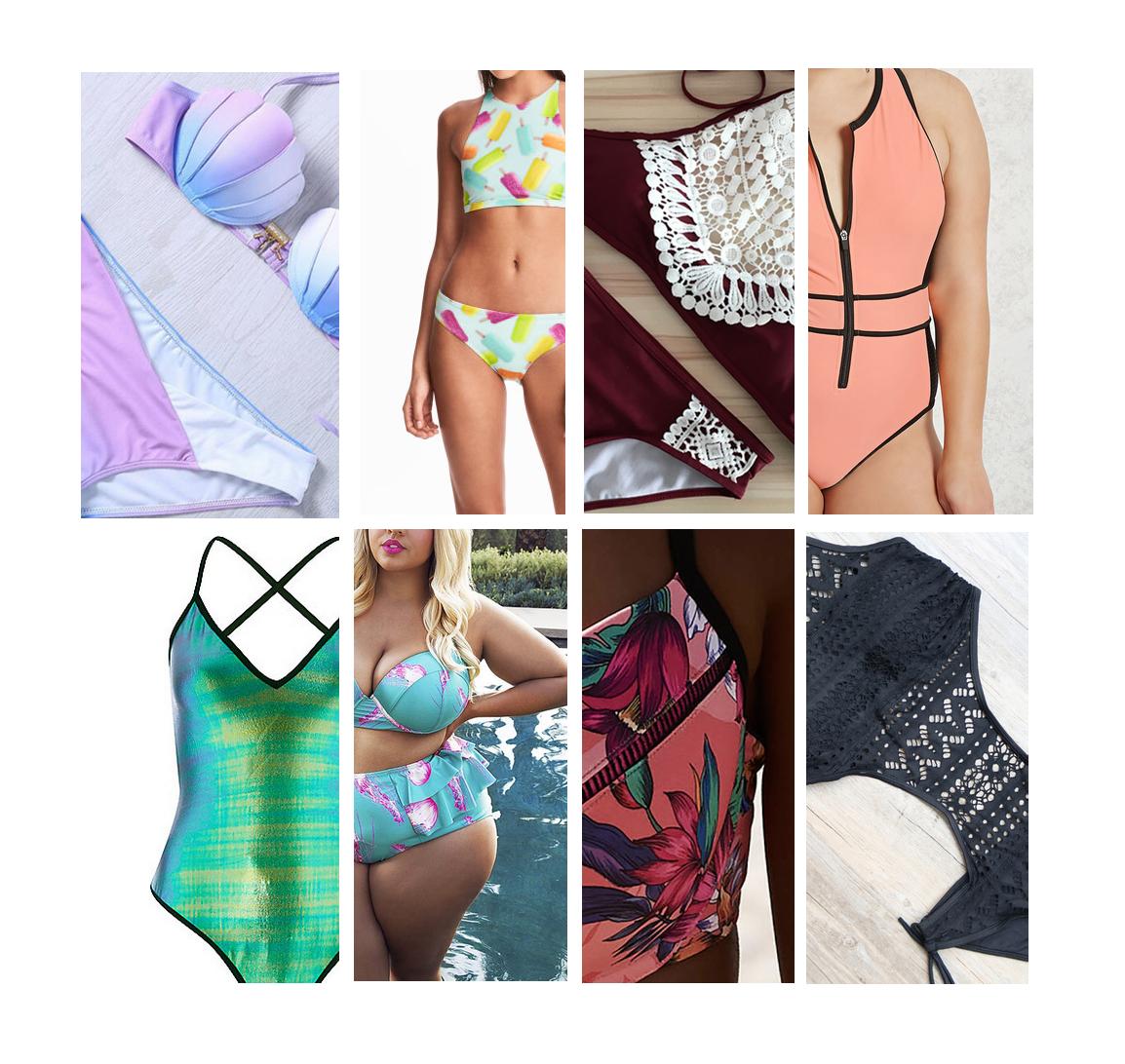 Bikini's en badpakken in alle soorten, maten en prijscategorieën