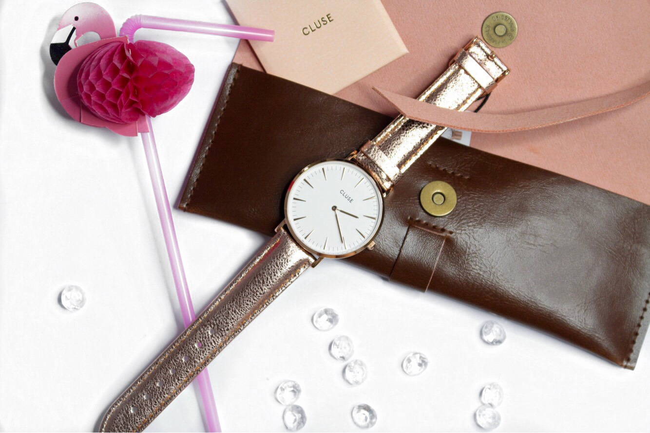 WINACTIE | CLUSE La Boheme rose metallic horloge!