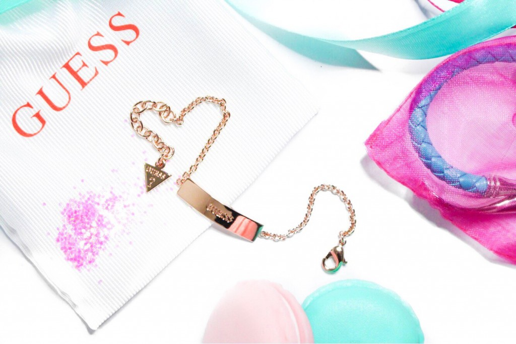 guess rose gold plated armband