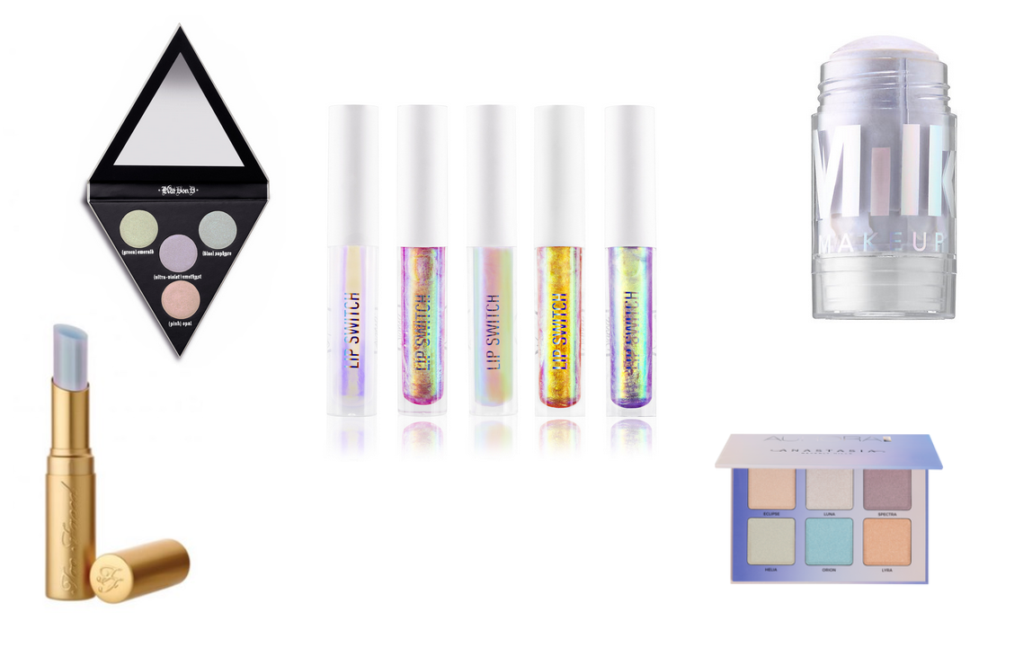 holografische make-up producten