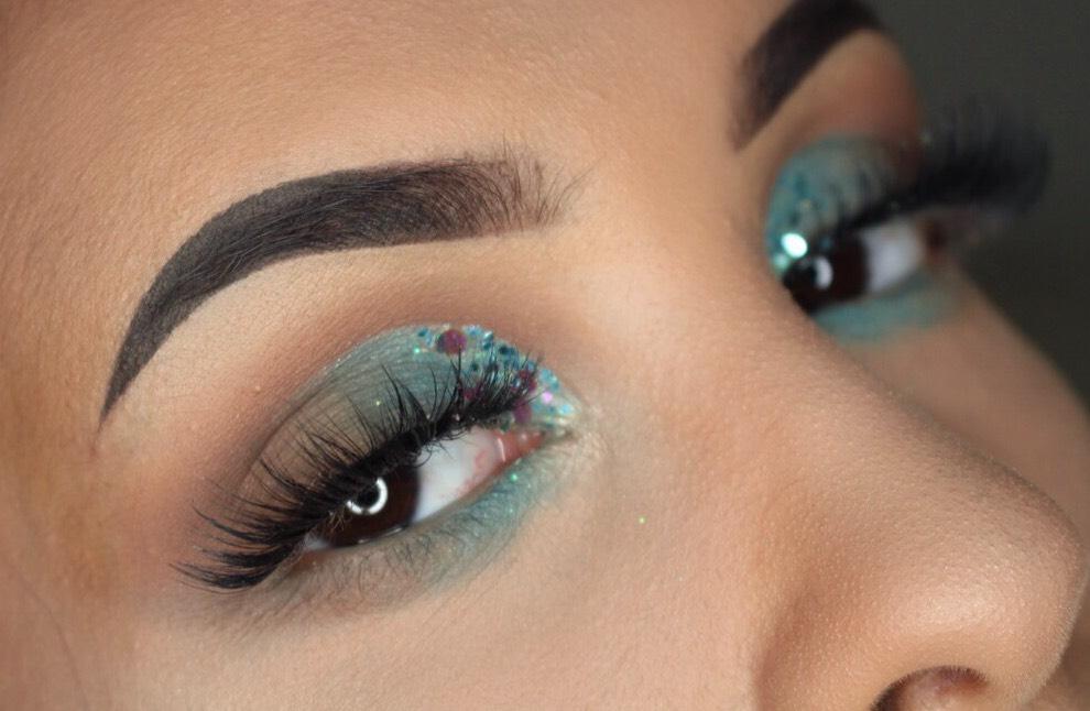 ELF beachy chic glitter eyeshadow review