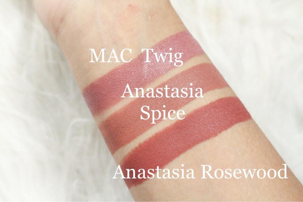 anastasia matte lipstick huls review swatches