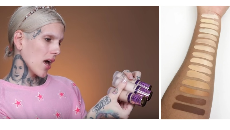 Jeffree Star pleit voor meer kleuren foundation Tarte Shape Tape collectie