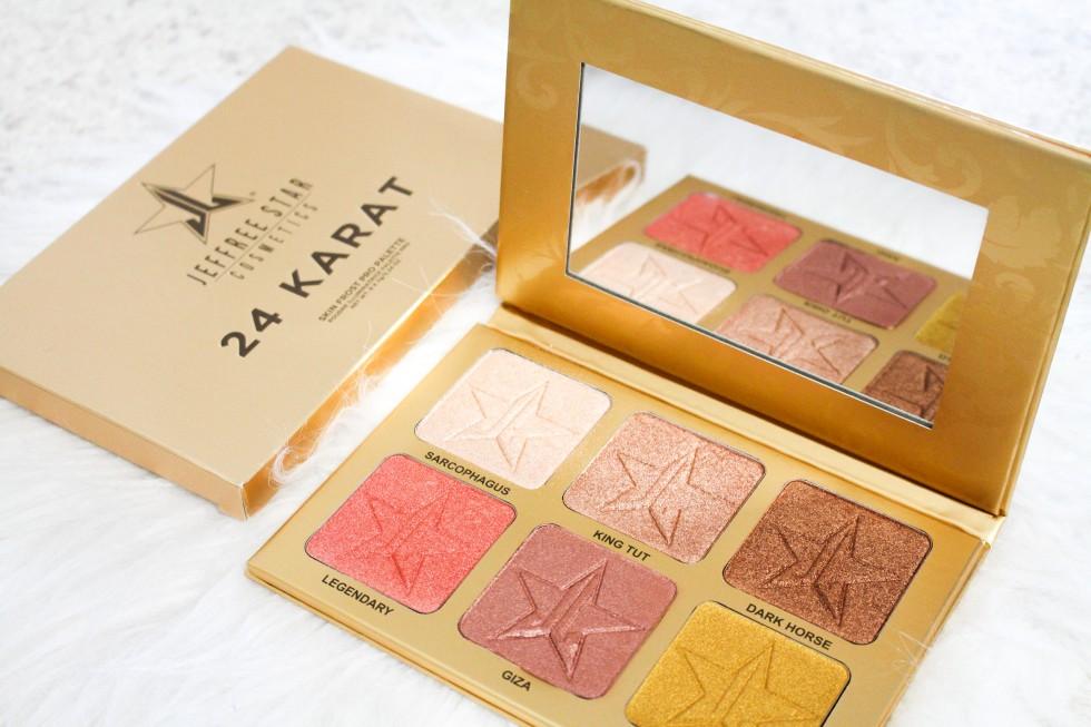 Jeffree Star Cosmetics 24 Karat Skin Frost Palette review