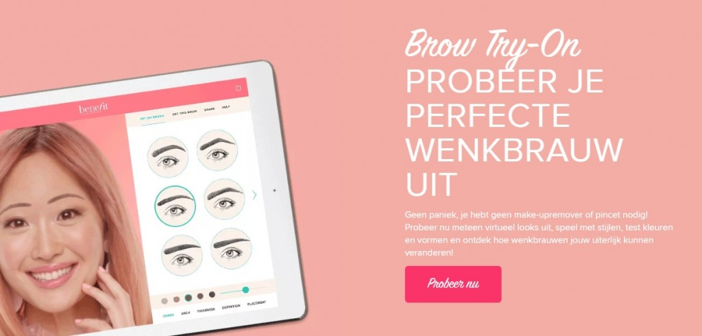 benefit brow try on