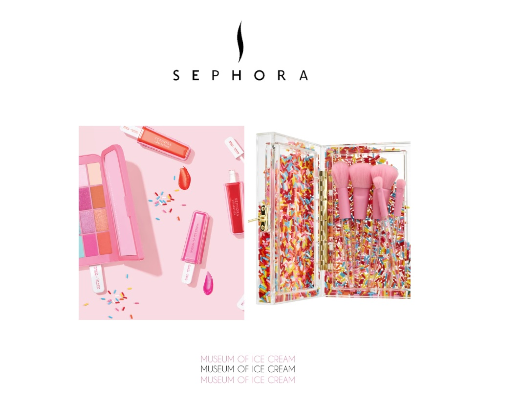 IJs & make-up liefhebbers opgelet: de Sephora x Museum of Ice Cream collectie!