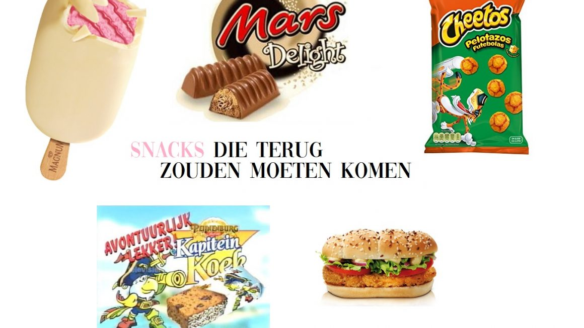 snacks die niet meer te koop zijn van vroeger terug