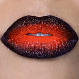 Halloween Lip Art Tutorial   Ombre lip art met spookjes