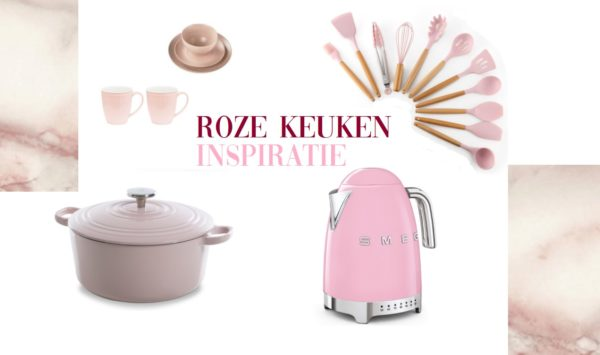 Met deze roze keukenspullen maak je een roze droomkeuken!